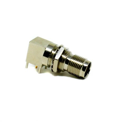 90 Degree TNC Connector Female PCB Mount Through Hole Threaded Custom