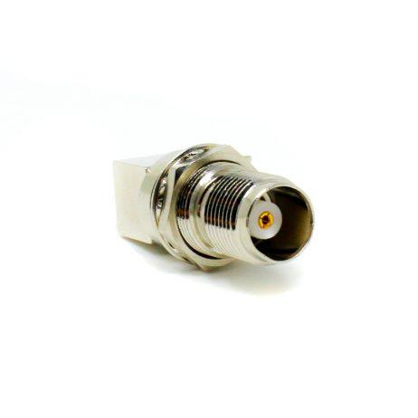 90 Degree TNC Connector Female PCB Mount Through Hole Threaded Custom