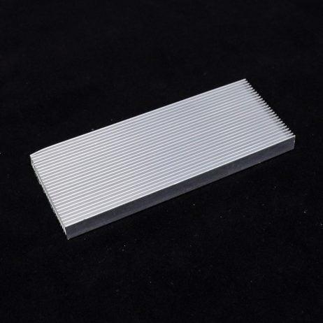 Aluminium Heat sink for High Power LED Amplifier (100 x 40 x 8 mm)