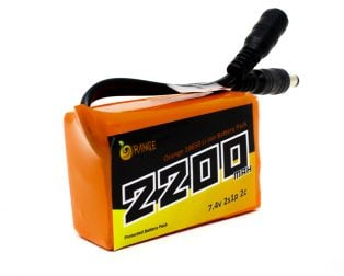 Orange 18650 Li-ion 2200mAh 7.4v 2S1P Protected Battery Pack-2c