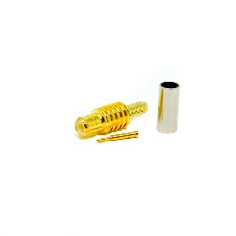 MCX Connector Female Straight Gold Plated Crimp Type For Cable