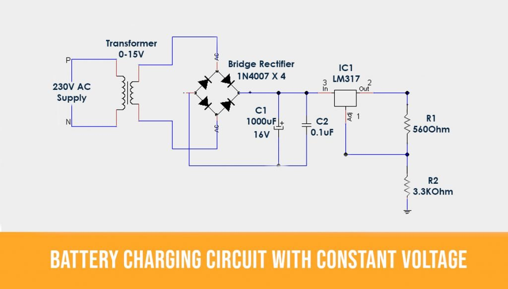 Constant voltage attery-charging-Circuit1