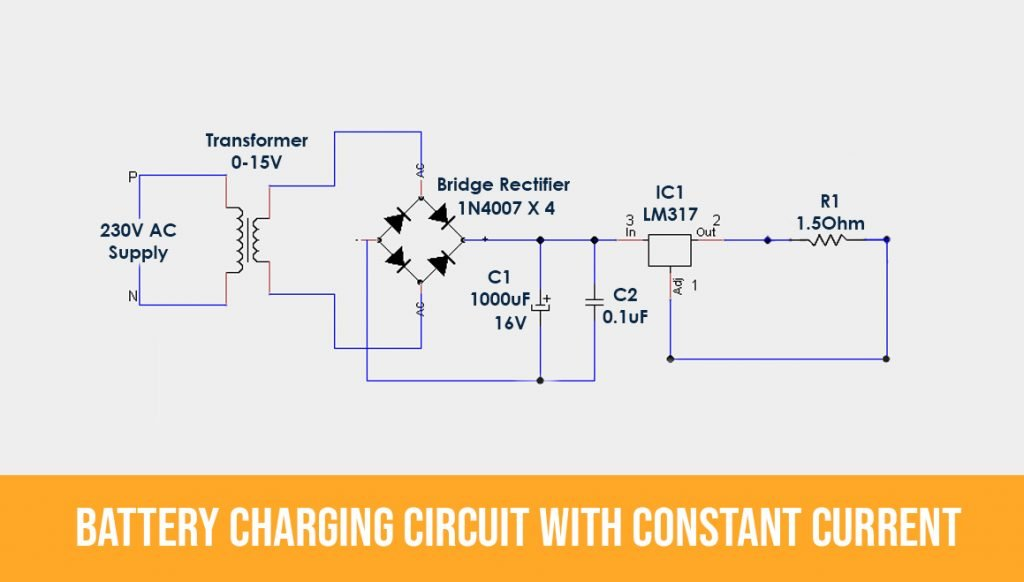 Battery-charging-circuit-with-Constant-Current