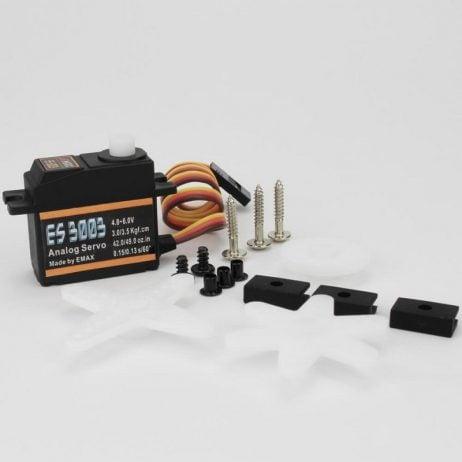 EMAX ES3003 17g 3.5kg 0.13sec 23T Plastic Gear Analog Servo for RC Airplane