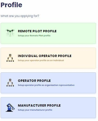 select drone profile