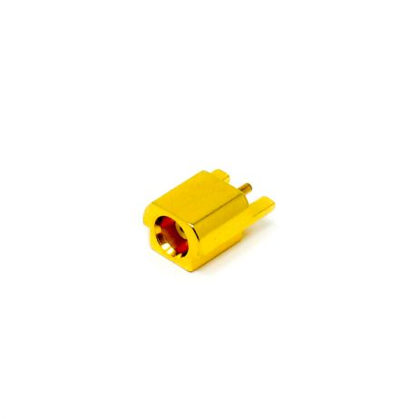 MCX Edge Mount For PCB Mount Female Connector 180 Degree Gold Plating