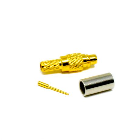 MCX RF Connector Male Straight Gold Plated Crimp type for Cable