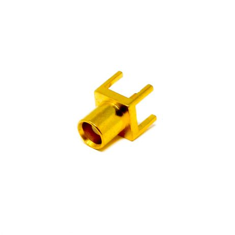 MCX Straight Connector Coax Female Through Hole For PCB