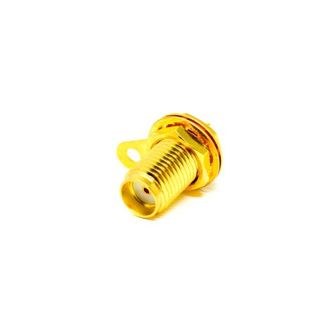 SMA Female Straight Connector Solder Type for Cable & Panel Mount