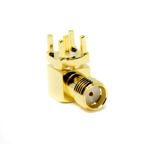 SMA Female Connector Right Angled Through-Hole for PCB Mount