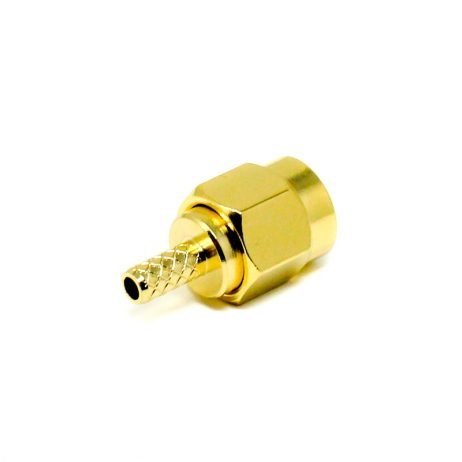 SMA Male Gold Plated Straight Plug Connector Crimp Type for Cables