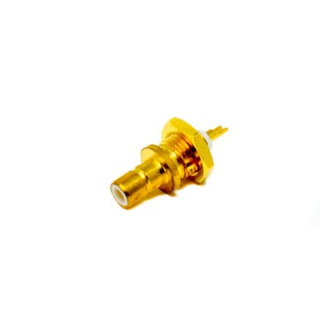 SMB 180 Degree Connector Female With Thread Solder Type for Cable