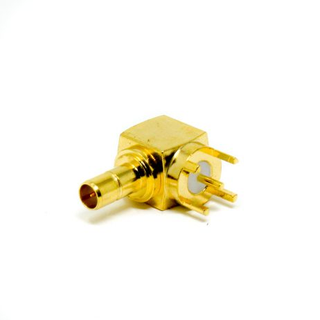 SMB Coaxial Connector Right Angle Female for PCB Mount