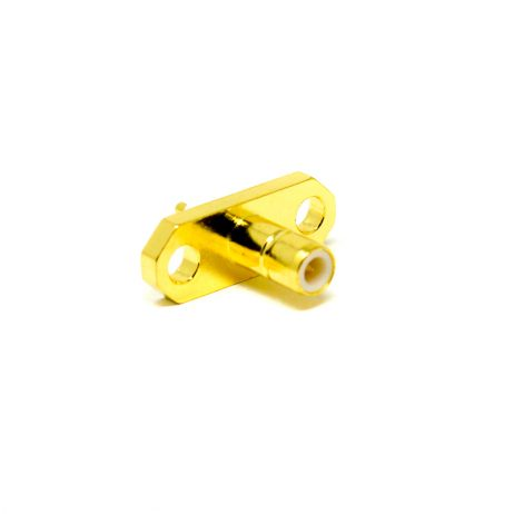 SMB Connector Straight Flange Female 2 Hole for Panel Mount