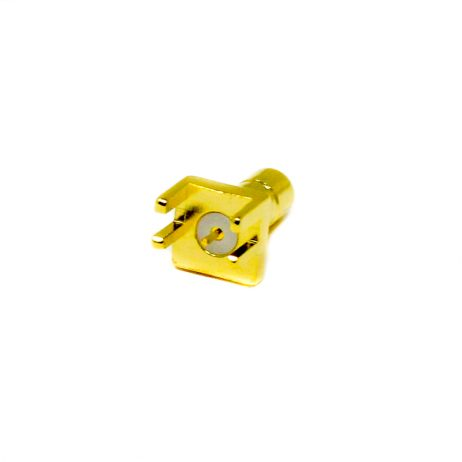 SMB RF Coax Female Straight Gold Plated for Edge Mount