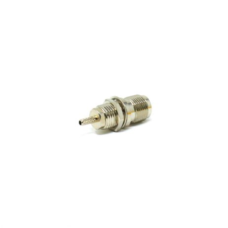 TNC Female Bulkhead Connector Panel Mount Female 180 Degree Solder Type For Coaxial Cable