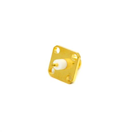 SMA Female Video Connector 4 Hole Square Flange Jack for Panel Mount