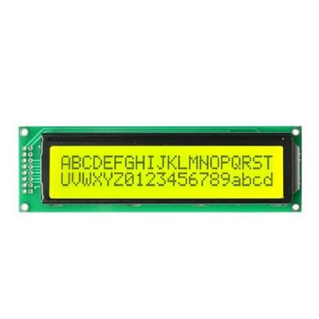 JHD 20x2 character LCD Display with Yellow Backlight