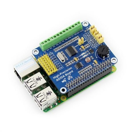 Waveshare Raspberry Pi High-Precision AD-DA Expansion Board