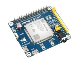Waveshare SIM7600G-H 4G HAT For Raspberry Pi, LTE Cat-4 4G / 3G / 2G Support