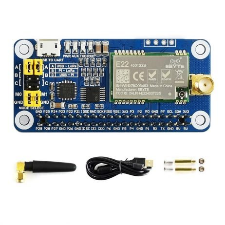 Waveshare SX1268 LoRa HAT for Raspberry Pi 433MHz Frequency Band for Europe, Asia, Africa