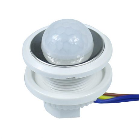 40mm LED PIR Detector Infrared Motion Sensor Switch With Adjustable Time Delay