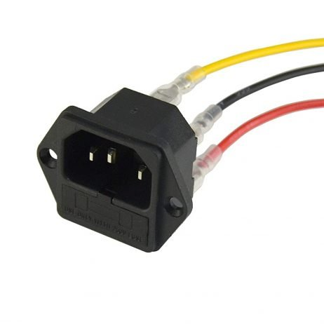 AC 250V 15A IEC320 C14 Male Power Cord Inlet Socket with Fuse Holder