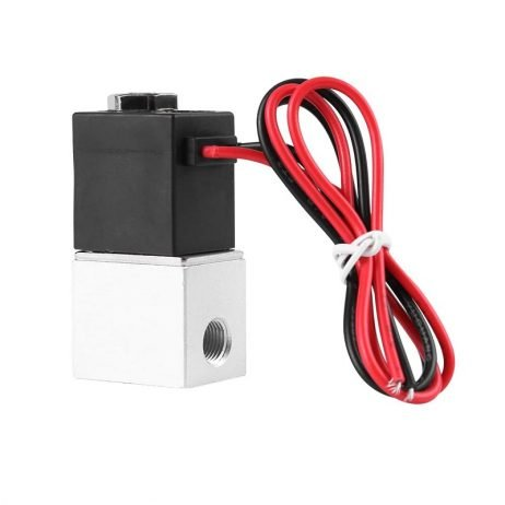 """DC 12V Solenoid Valve 1/4"""" 2 Way Normally Closed Direct-Pneumatic Valves For Water Air Gas Hot"""