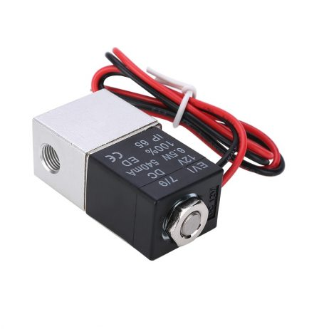 """DC 12V Solenoid Valve 1/8"""" 2 Way Normally Closed Direct-Pneumatic Valves For Water Air Gas Hot"""