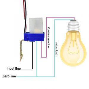 DC Automatic OnOff Photocell Street Lamp Light Switch Controller AC 220V 50-60Hz 10A