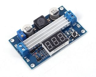 DC-DC High Power Adjustable Step-up Module 3.0~35V to 3.5~35V 100W with Digital Display Voltmeter