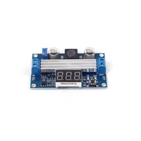 DC-DC High Power Adjustable Step-up Module 3.0~35V to 3.5~35V 100W with Digital Display Voltmeter