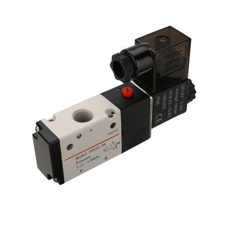 DC12V 14'' 3 Way 2 Position Pneumatic Solenoid Valve for Water Air Gas