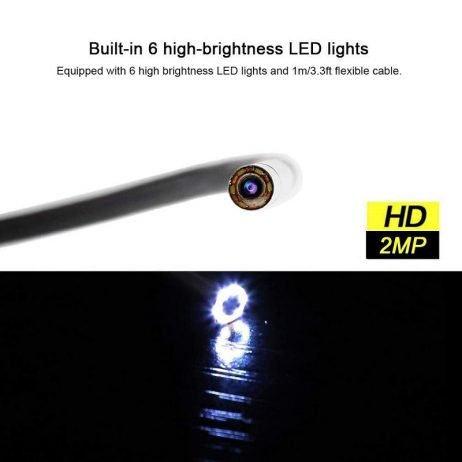 INSKAM USB Endoscope 3in1 Borescope 3.9mm Ultra thin Waterproof Inspection Snake Camera with LED Light