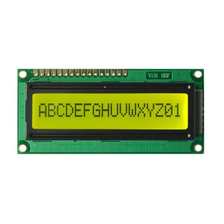 JHD 16×1 Character LCD Display With Yellow Backlight