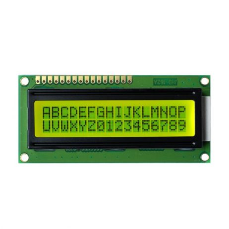 JHD 16×2 Character LCD Display With Yellow Backlight