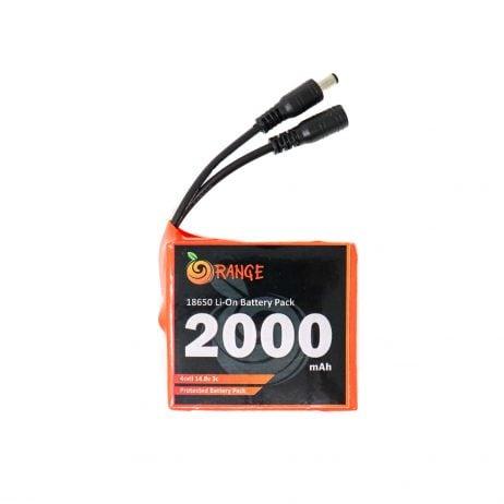 Orange 18650 Li-ion 2000mAh-4s-14.8v-3c 4S1P