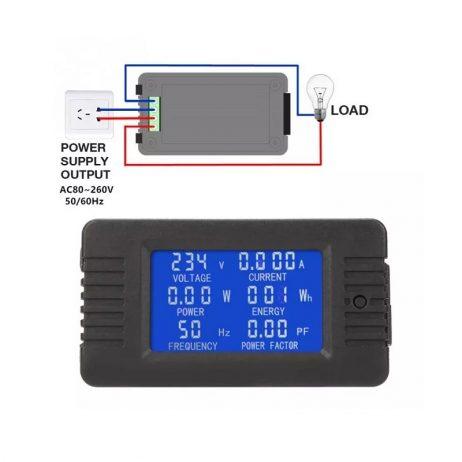 PZEM-018 AC Digital Display Power Monitor Meter