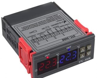 STC-3008 AC110-220V Dual Display Thermostat Temperature Controller with 1M NTC Probe