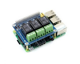 Waveshare 3 Channel Relay HAT Smart Home for Raspberry Pi 3
