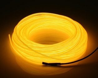 5M Neon Light Only EL Wire -YELLOW