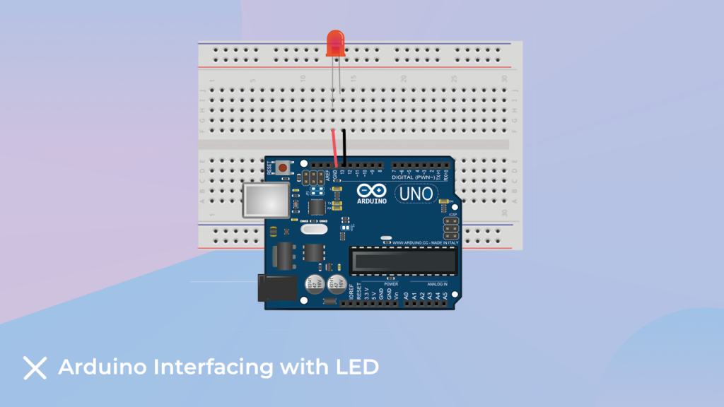 LED interfacing with the arduino
