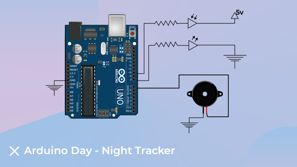 Interfacing Diagram for Arduino Day-Night Tracker Project