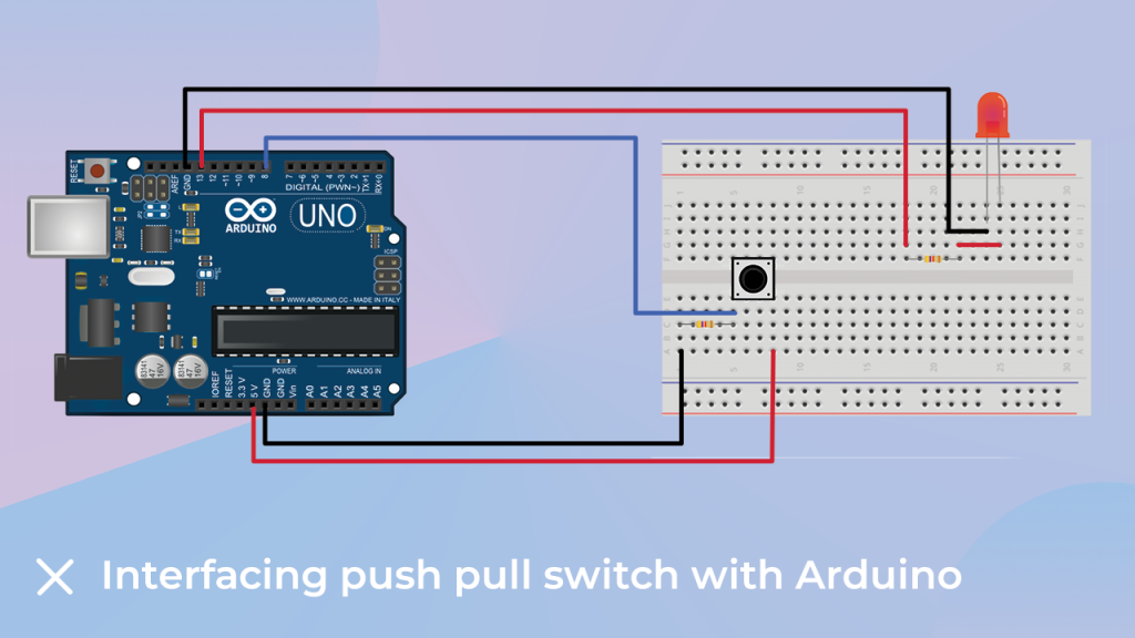 Interfacing Push pull switch with the Arduino.