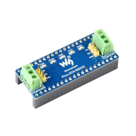 Waveshare 2-Channel UART To RS232 Module for Raspberry Pi Pico, SP3232EEN Transceiver