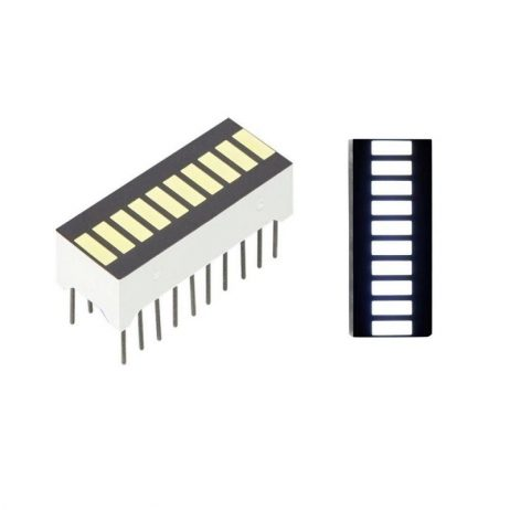 White 10 Segment LED Display