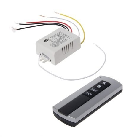 Wireless 2 Channel On/Off Lamp Remote Control Switch Receiver Transmitter