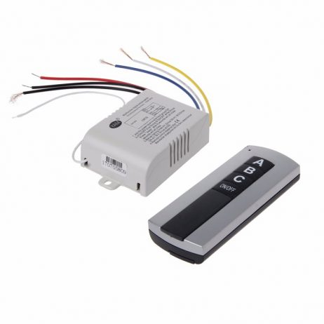 Wireless 3 Channel On/Off Lamp Remote Control Switch Receiver Transmitter