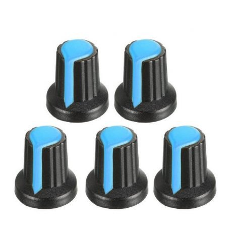 Potentiometer Knob Rotary Switch Cap Blue Color- Pack of 5 Pcs.