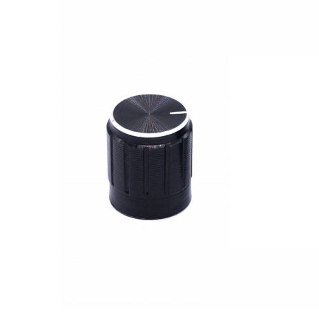 Potentiometer Knob Rotary Switch Cap Black Color- Pack of 5 Pcs.